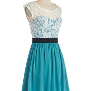"""Teal Lace """"Shortcake Story Dress"""" from ModCloth"""